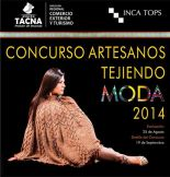 Afiche Oficial: Concurso Artesanos tejendo Moda 2014